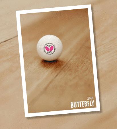 Butterfly Tischtennis Katalog 2016