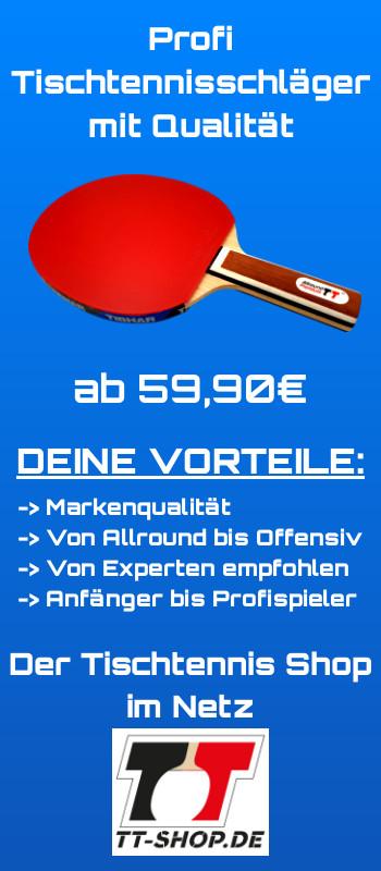Profi Tischtennisschläger von TT-SHOP.de